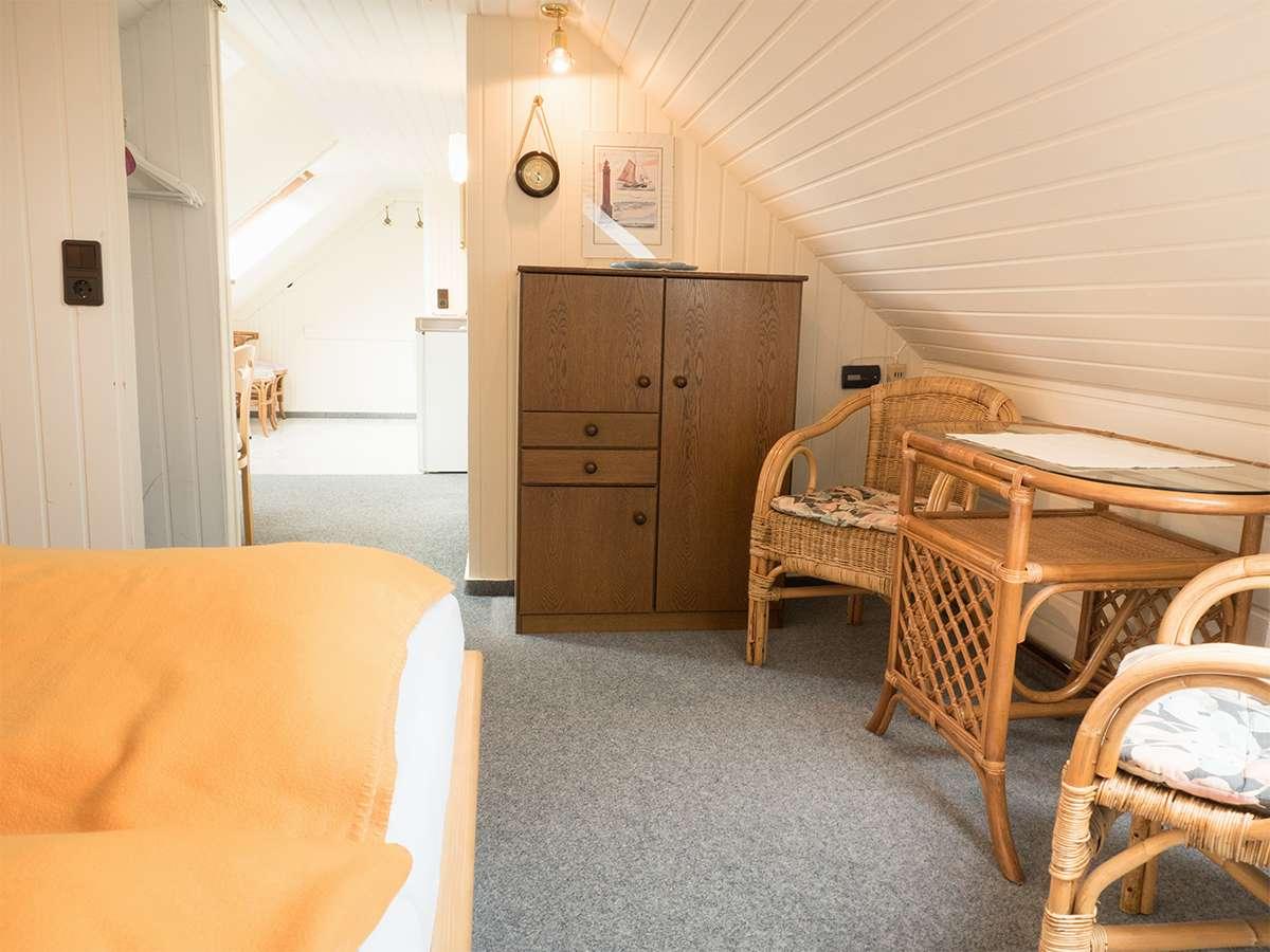 Gemütliche Sitzecke in der Ferienwohnung Nr.5 auf Norderney